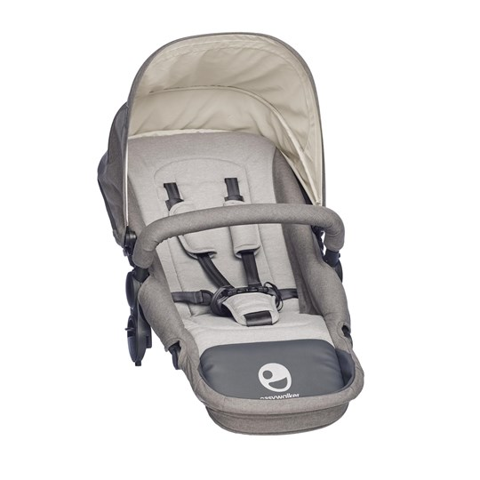EasyWalker Harvey Seat Steel Grey Black