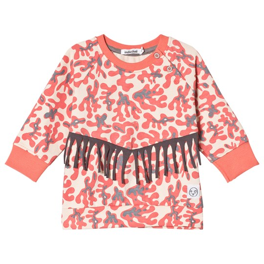 Indikidual Seaweed Print Tröja Orange Blush