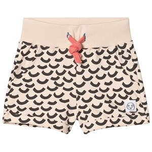 Image of Indikidual Blush Multi Wave Print Jersey Shorts 0-6 months (2956639617)