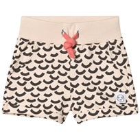Indikidual Blush Multi Wave Print Jersey Shorts Blush