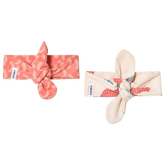 Indikidual 2 Pack of Headbands Coral Wave and Bananas Multi