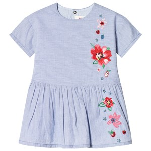Image of Catimini Blue Dress with Embroidery 12 months (2956638957)