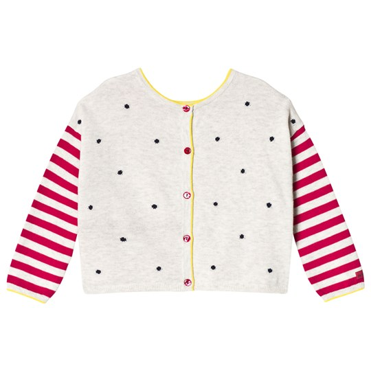 Catimini Grey and Pink Toucan Intarsia Cardigan 13