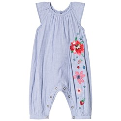 Catimini Stripy Romper with Embroidery