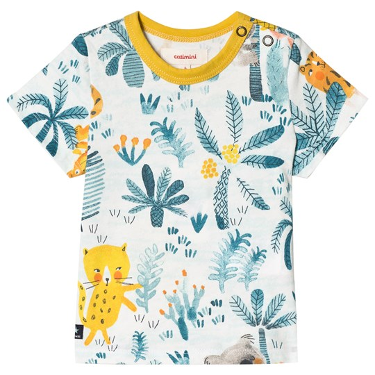 Catimini Jungle Animals Print Tee Green 11
