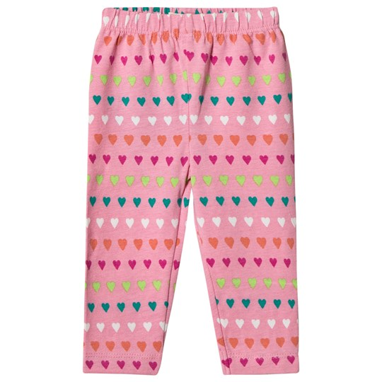 Hatley Pink Heart Stripes Mini Leggings Pink