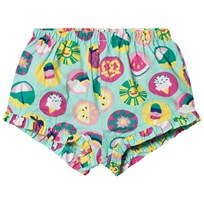 Hatley Green Summer Print Mini Ruffle Shorts Green