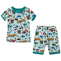 Hatley Blue Surf Island Short Pajama Set Blue