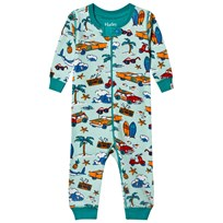 Hatley Blue Surf Island Mini Coverall Blue