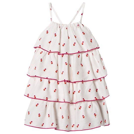 Hatley White Tiny Ice Lollies Tiered Dress White