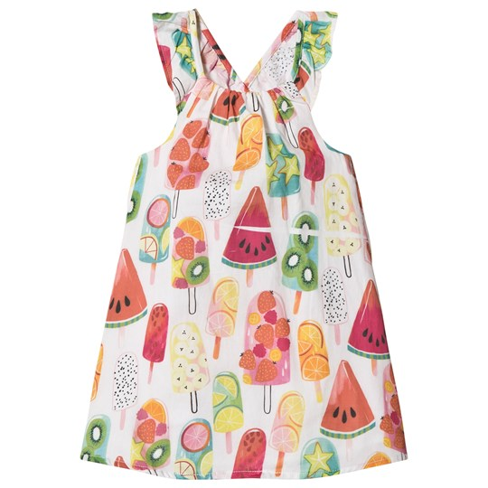 Hatley White Fruity Lollies Bow Back Dress White