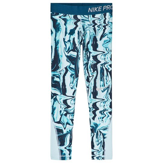 NIKE Pro Printed Training Tights Neo Turquoise 430