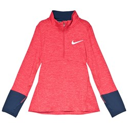 NIKE Pink and Navy Nike Long Sleeve Dry Top