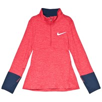 NIKE Pink and Navy Nike Long Sleeve Dry Top 023