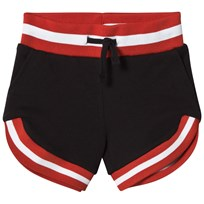 Stella McCartney Kids Black Delilah Shorts with Striped Trim 1073