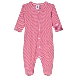 Petit Bateau Onesie Striped Red/White