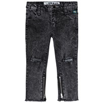 The BRAND Skinny Zip Stone Wash Distressed Grey STONE WASH DISTRESSED GREY