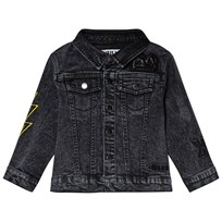 The BRAND Fringe Denim Jacket Stone Wash Distressed Grey STONE WASH DISTRESSED GREY