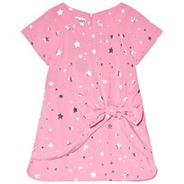 Hatley Pink and Silver Star Bow Front Dress Pink