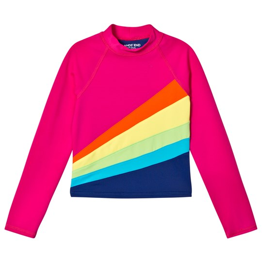 Lands' End Long Sleeve Rash Guard Cersie Pink GB9