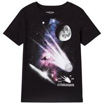 Lands End Black Asteroid Graphic Short Sleeve Tee 7RR