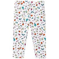 Lands End Multi Coloured Mini Doodle Print Cropped Leggings 8AD