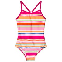 Lands End Multi Coloured Striped UPF50 Swimsuit BVJ