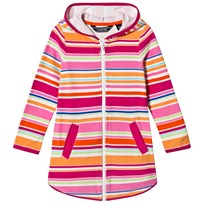 Lands End Pink Multi Striped Terry Hooded Cover Up BVJ