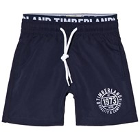 Timberland Navy Branded Logo Swim Shorts 85T