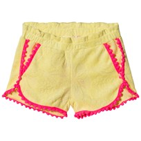 Billieblush Yellow Pom Pom Terry Shorts 542