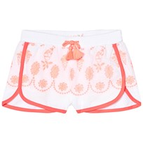 Billieblush White and Pink Embroidered Cotton Shorts Z40