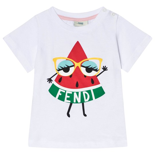 Fendi Watermelon monster Print T-Shirt White F0QA0