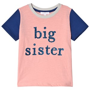 Image of Livly Big Sister T-shirt Neon Pink/Blue 12-18 m (3009897227)