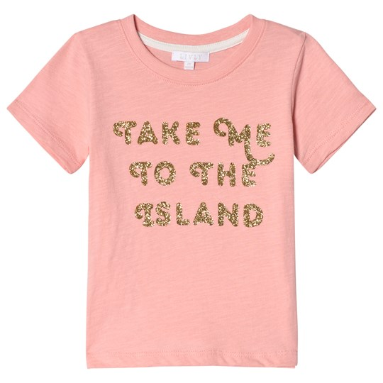 Livly Take Me To the Island T-shirt Neon Coral