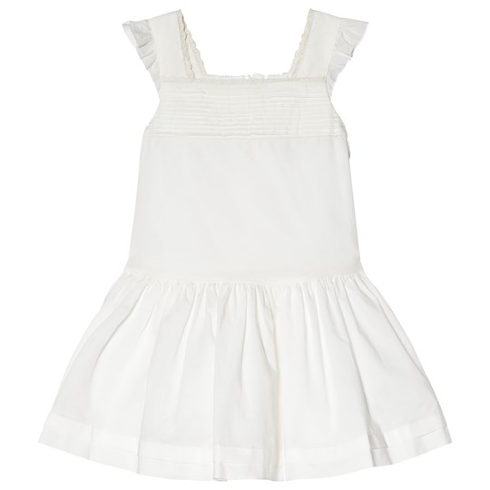Petit Bateau Lace and Cotton Klänning Vit