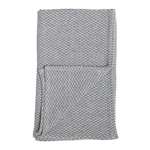 Image of Bloomingville Blue Cotton Throw (3021546365)
