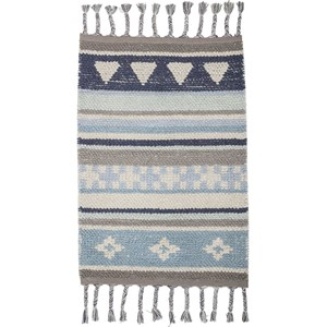 Image of Bloomingville Cotton Rug Blue (2957296409)