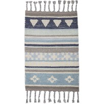 Bloomingville Cotton Rug Blue Blue