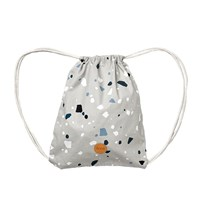 ferm LIVING Gym Bag Terrazzo Grey Black
