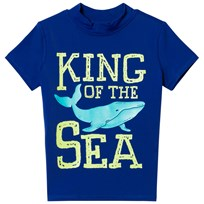 Lands End Navy King of the Sea Graphic Rashguard 7KM