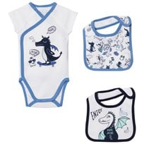 Little Marc Jacobs White Dragon Wrap Body and Two Bibs N48