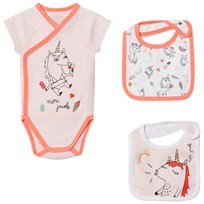 Little Marc Jacobs Pink Unicorn Wrap Body and Two Bibs 44L