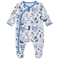Little Marc Jacobs White and Navy All Over Dragon Print Babygrow N48