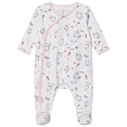 The Marc Jacobs White and Pink All Over Unicorn Print Babygrow