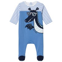 Little Marc Jacobs Blue Dragon Applique Babygrow in Gift Box 819