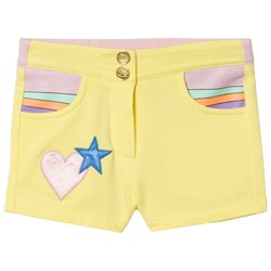 The Marc Jacobs Yellow Heart Pocket Jersey Shorts