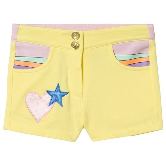 Little Marc Jacobs Yellow Heart Pocket Jersey Shorts 553