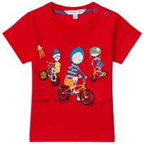 Little Marc Jacobs Red Mr Marc Bike and Friends Tee 97S
