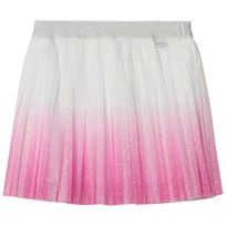 Little Marc Jacobs Pink Glitter Tulle Pleated Midi Skirt Z40