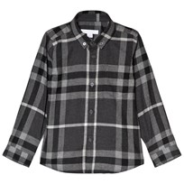 Burberry Dark Grey Mini Fred Scale Check Shirt Dark Grey melange